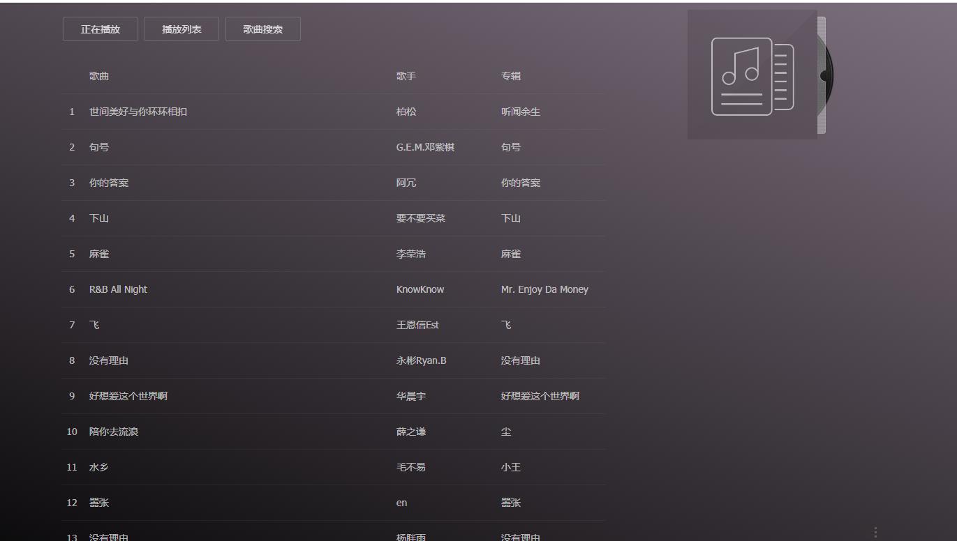 最新可使用在线音乐网站+多解析源码插图(1)
